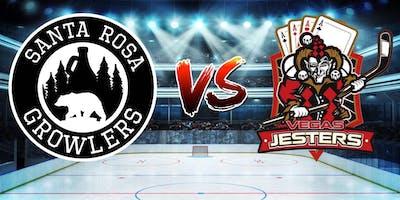 Santa Rosa Growlers vs. Vegas Jesters- Hockey Game