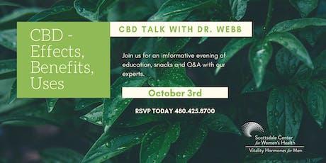 CBD Talk with Dr. Webb tickets