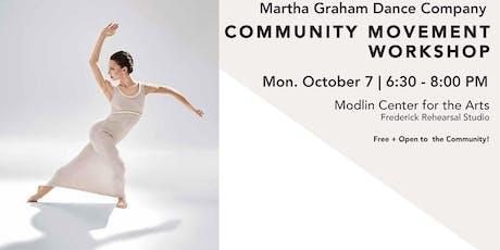 Community Movement Workshop: Martha Graham Dance Company tickets