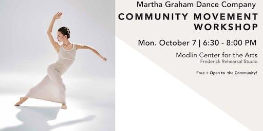 Community Movement Workshop: Martha Graham Dance Company