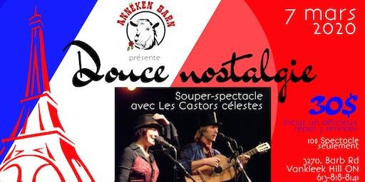 Souper-spectacle DOUCE NOSTALGIE avec Les Castors célestes