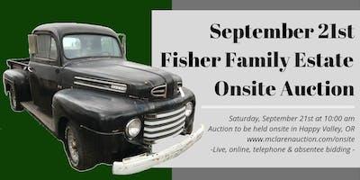 September 21st Fisher Family Estate Onsite Auction