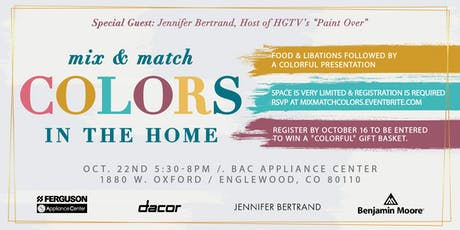 Mix & Match Colors for the Home tickets