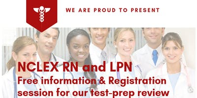 NCLEX RN and LPN Free Information & Registration session