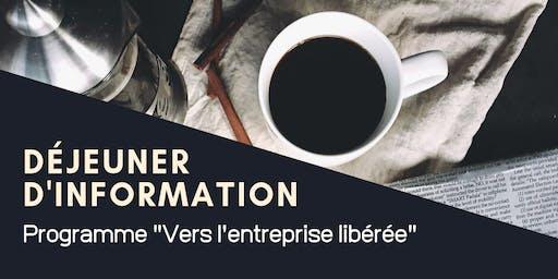 """Déjeuner d'information : Programme """"Vers l'entreprise libérée"""""""