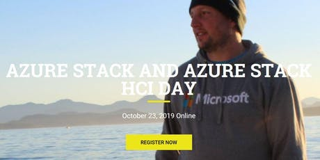 Azure Stack and Azure Stack HCI Day Online tickets