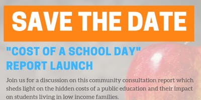 Cost of a School Day Report Launch