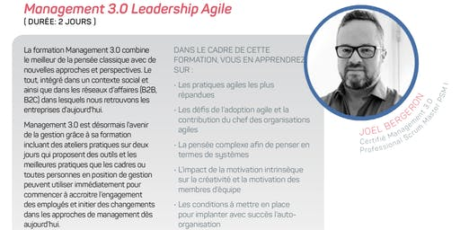 Management 3.0 Leadership Agile - Drummondville