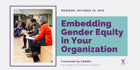 Embedding Gender Equity in Your Organization tickets