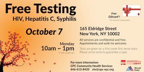Free HIV and STDs Testing 愛滋及性病免費檢測 tickets