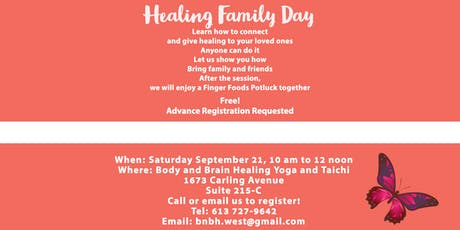 HEALING FAMILY DAY - SEPTEMBER  tickets