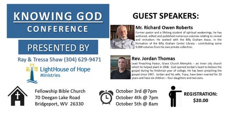 KNOWING GOD CONFERENCE tickets