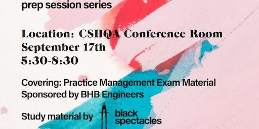 ARE Prep Seminar: Session 01 - Practice Management