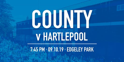 #StockportCounty vs Hartlepool United