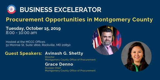 MCCC Business EXCELerator: Procurement Opportunities in Montgomery County