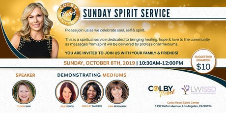 Sunday Spirit Service 10/06/2019-Los Angeles tickets