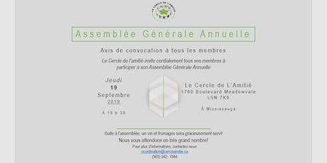 Assemblée Générale Annuelle du Cercle de l'Amitié  billets