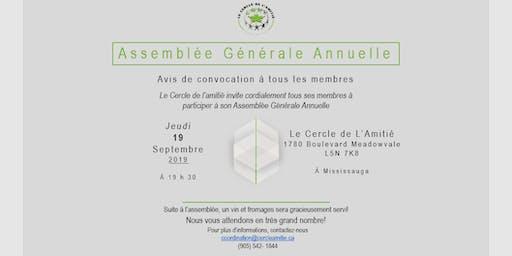 Assemblée Générale Annuelle du Cercle de l'Amitié