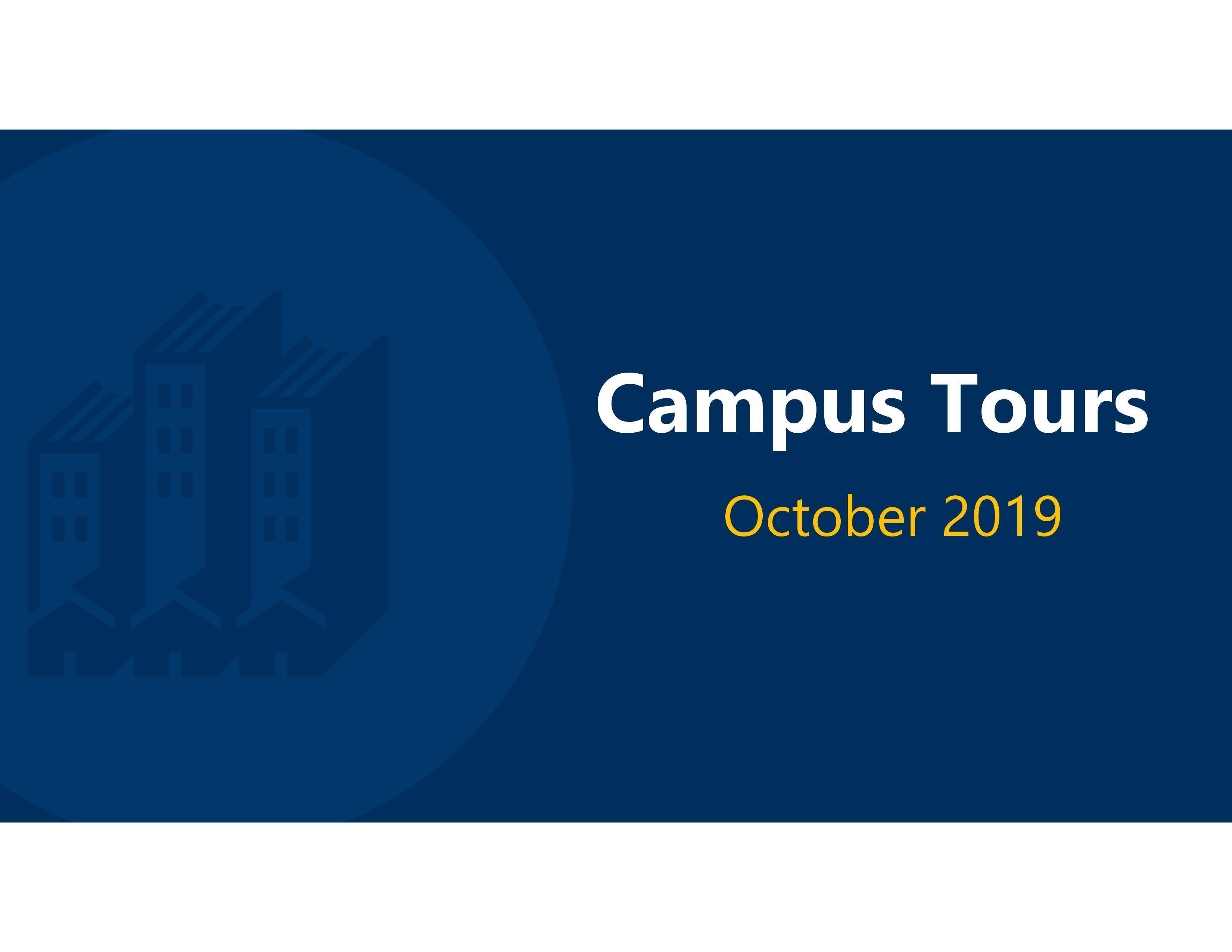 October 2019 Tours