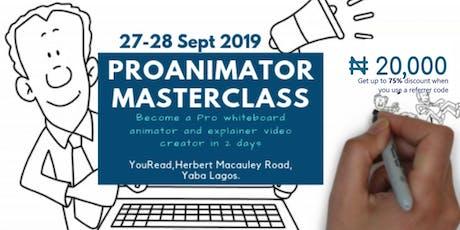 Pro Animation Masterclass tickets