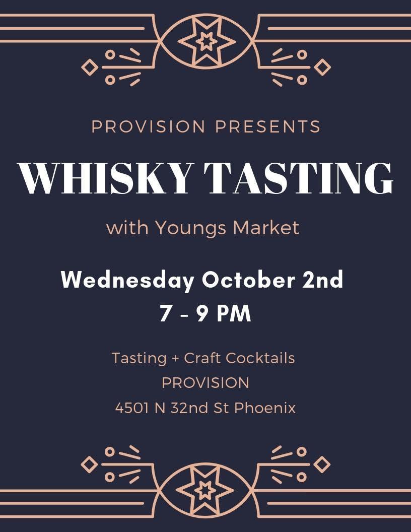 Whisky Tasting at PROVISION