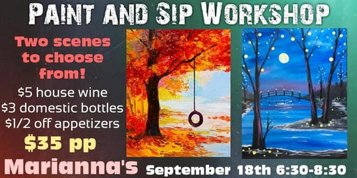 Paint and Sip Workshop