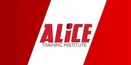 ALICE Training tickets