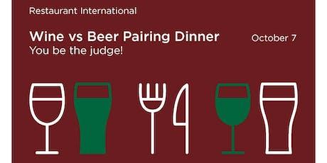 Wine vs Beer Pairing Dinner tickets