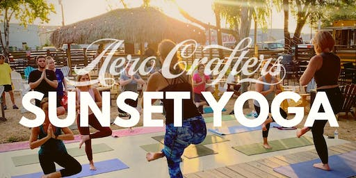 SEPTEMBER SUNSET YOGA at Aero Crafters!