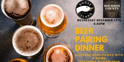 Chuck's & Goose Island Beer Pairing Dinner