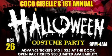 CoCo Giselle 1st Annual Halloween Costume Party  tickets