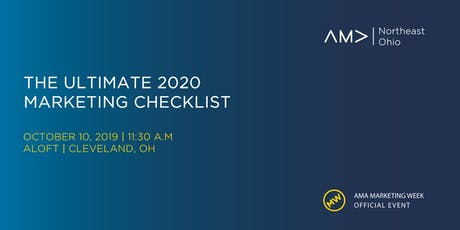 The Ultimate 2020 Marketing Checklist tickets