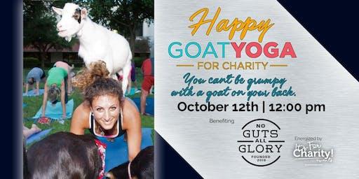 Happy Goat Yoga at Frisco Fresh Market: Benefiting No Guts All Glory