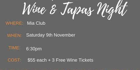 Riverina Organic Wine and Tapas Night tickets