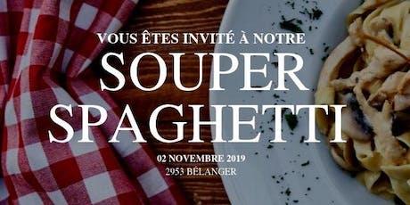 Soirée bénéfice - Souper spaghetti 2019 billets