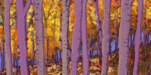 Autumn Aspens Painting Party at Brush & Cork
