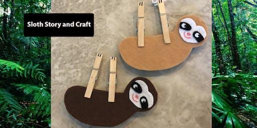 Sloth Storytime & Craft