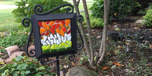 DIY Fused Glass Garden Stake