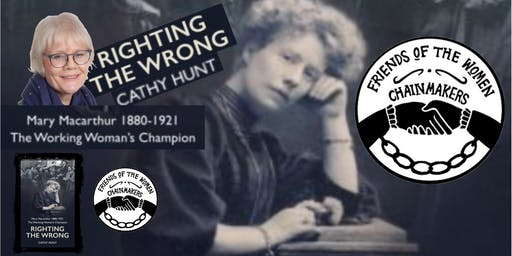 Friends of the Women Chainmakers Present an evening with Cathy Hunt