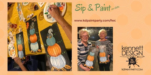 Paint & Sip - 10/11 - Pumpkin Stack on Slate