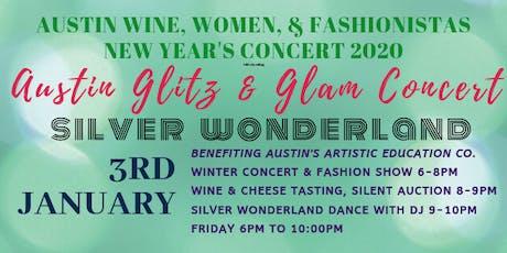 Austin Wine, Women, & Fashionistas: Silver Wonderland Glitz & Glam Concert tickets