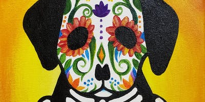 Kids & Grown-Ups Puppy Sugar Skull Painting Party
