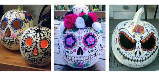 Sugar Skull Pumpkin Art Class