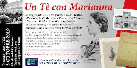 UN TE' CON MARIANNA PANCIATICHI XIMENES D'ARAGONA PAULUCCI biglietti
