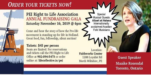 Annual PEI Right to Life GALA