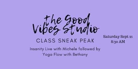 The Good Vibes Studio Class Sneak Peak tickets