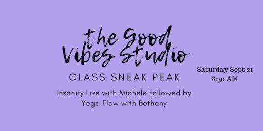 The Good Vibes Studio Class Sneak Peak
