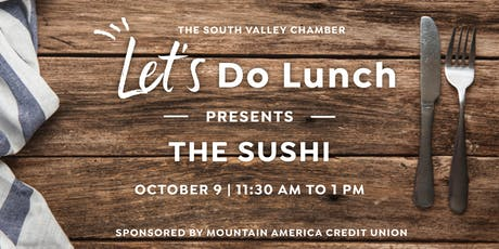 Let's Do Lunch: The Sushi tickets