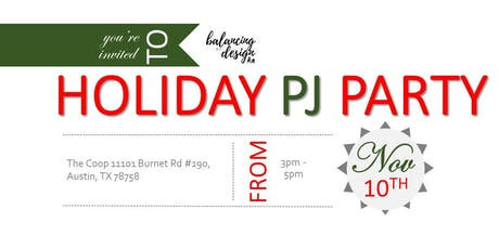 Balancing By Design's Holiday PJ Party tickets