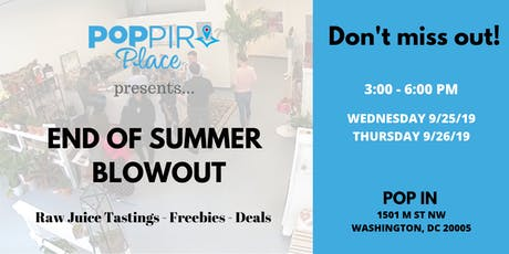 End of Summer Blow Out at Poppir Place tickets